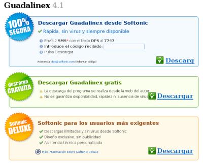 Guadalinex en Softonic